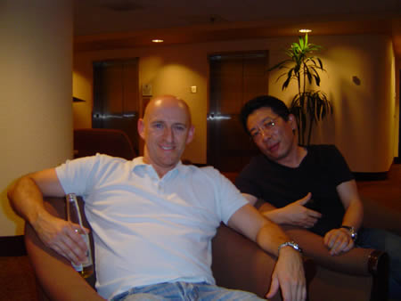 Brett Mcfall and Tom Hua relaxing after the event