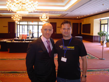 This image of Brett Mcfall and me was taken at the WIS in Dallas 2008