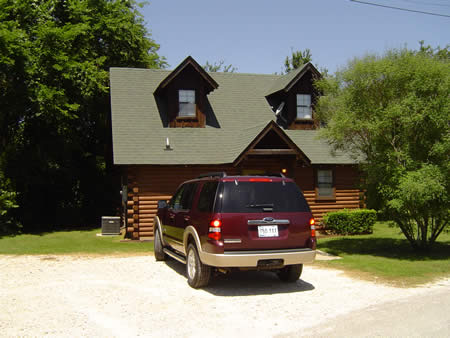 A photo of the log cabin that 5 Alpha Leaders stayed at