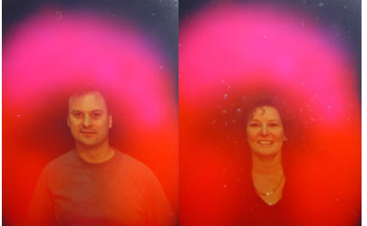 An aura photo taken of Maureen and me