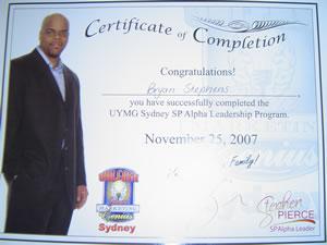 Alpha leadership certificate