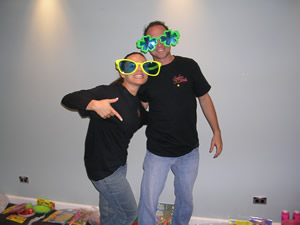 A photo of Joey and Richard with cool glasses at UYMG