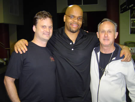 A photo of Stephen Pierce with my dad and me at UYMG Sydney 2008