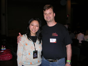 A photo of Marta with me at UYMG