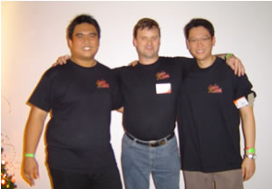 Photo of me with Sern Yi and Jason Tan